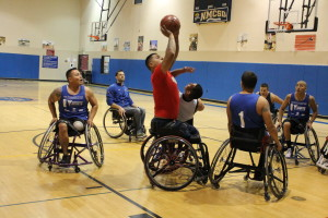 Freedom Station Wolf Pack Wheelchair BBall game