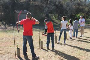 Kids Archery at Camp Soaring Eagle